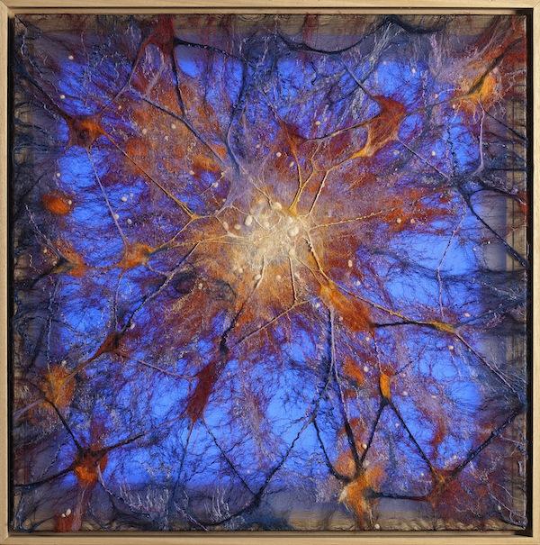 'Quasar' (2019), 79 x 79 x 7 cm, Felt