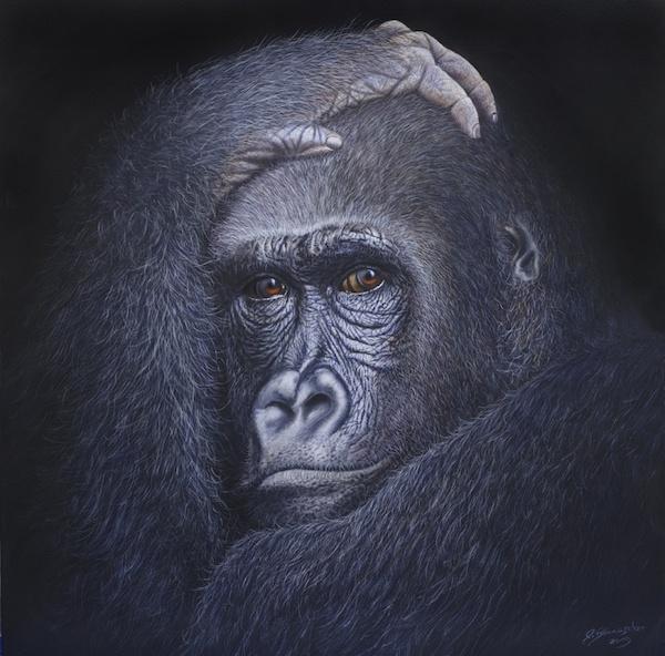 """""""Augenblick"""", 60 x 60 cm"""