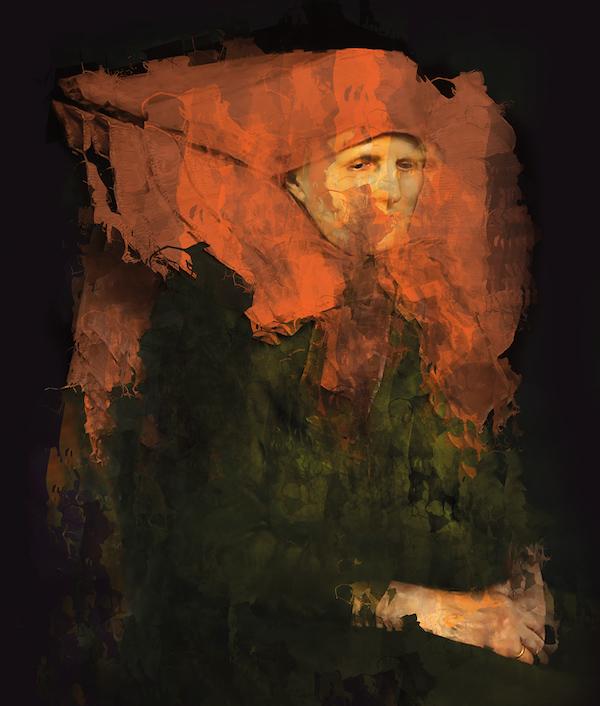 Karmijn (2021) 140 x 110 cm, Paintograph, ed. 1/8