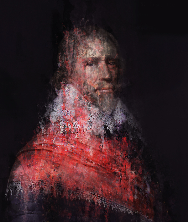 Viscount in rood (2021) 160 x 120 cm, Paintograph, ed. 1/8