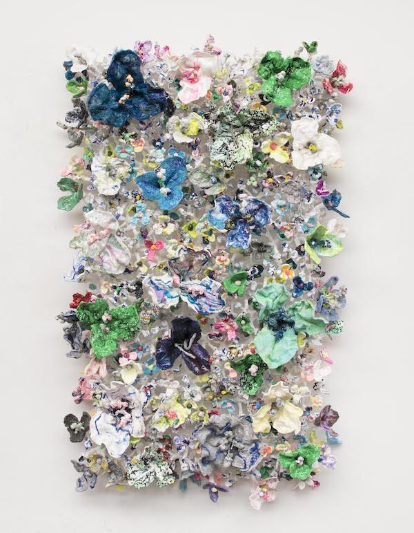 'Flower Bonanza' (2020), 100 x 170 x 30cm, Oil plastic