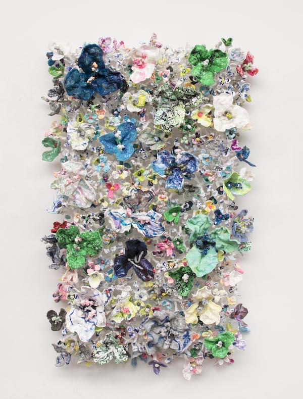 'Flower Bonanza' (2020), 100 x 170 x 30 cm, Oil plastic