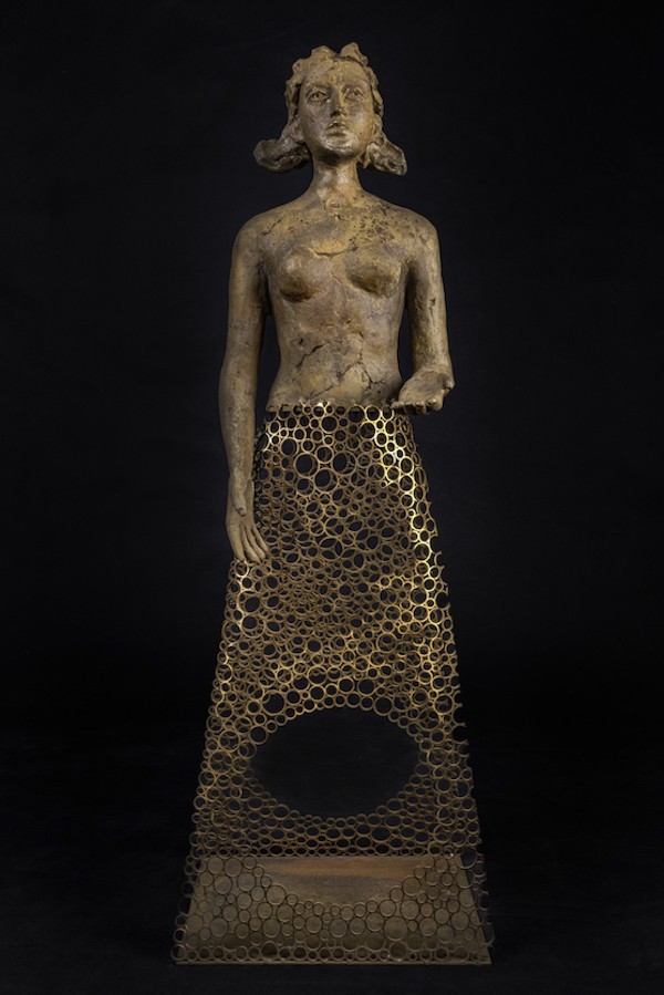 Here I am (2020) 105 x 35 x 25 cm, Bronze, ed. 1/8