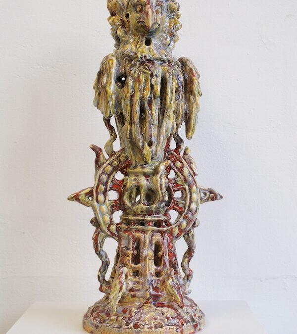 Harpij (2021- 58 x 26 x 25 cm, Ceramics with glaze