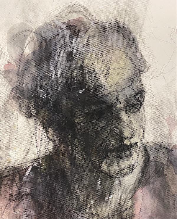 'Charcoal (VER79)' (2013), 102 x 61 cm, Mixed techniques