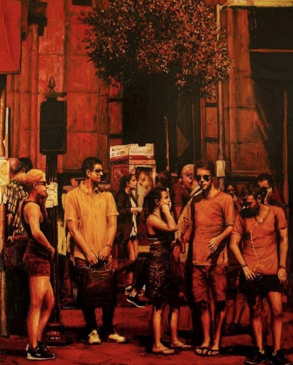 Madrid Rojo (2018) 160 x 120 cm, Acrylic on canvas