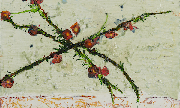 'Jvs20907' (2020) 30 x 40 cm, Mixed techniques on linen
