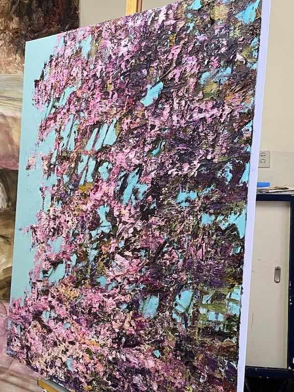 'Lentebloesem 7' (2020), 140 x 140 cm, Oil on canvas