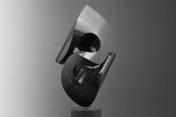 Lis Noir (2020), H 68 cm, Belgian Hardstone