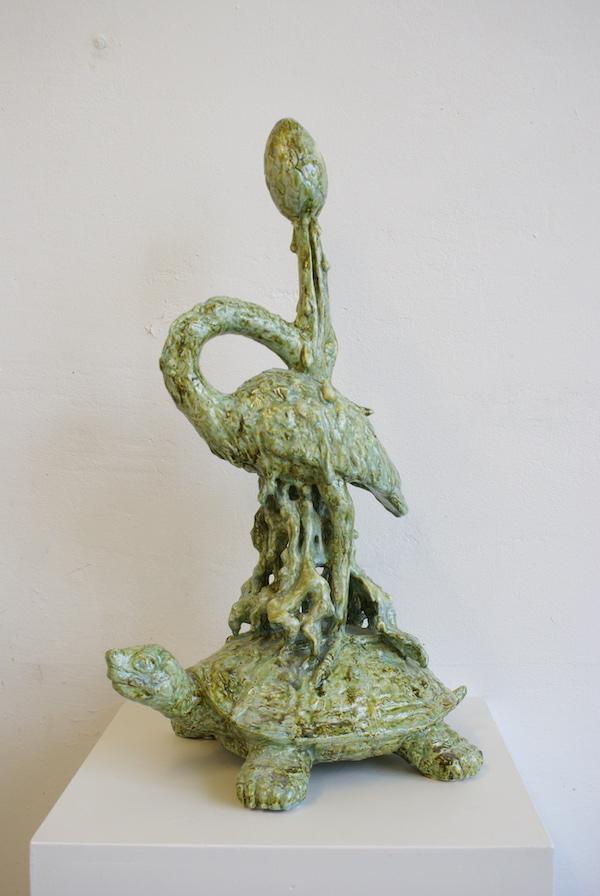 The Serpent's Egg (2019) 62 x 37 x 24 cm, Porcelain with glaze