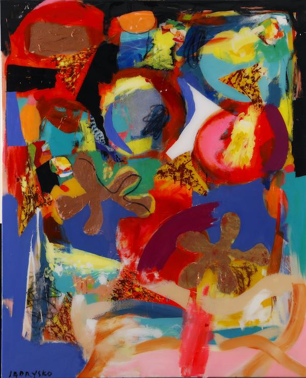 Spiel mit mir (2019), 160 x 130cm, Oil on canvas with liquid gloss