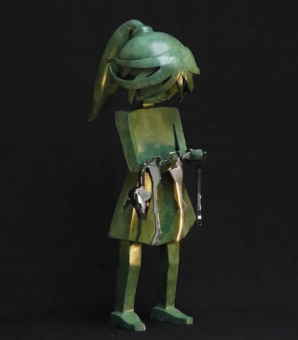 'Wheeping' (2020), 85 cm, Bronze/RVS