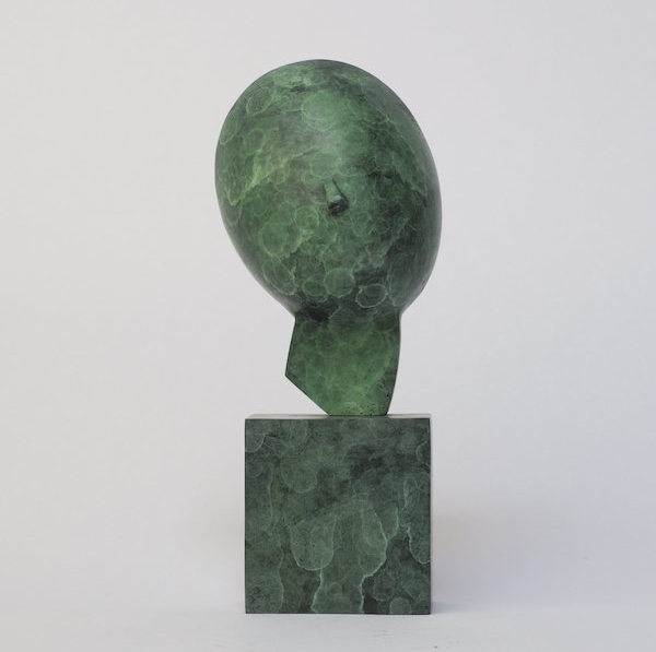 Greek Head (2021) 22 x 10 x 11 cm, Bronze, ed. 2/8