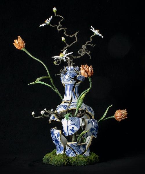 Cracking tulipvase Patrick Bergsma